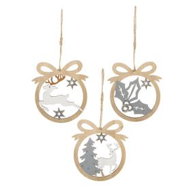 Laser Cut Scenic Ornaments (12 pc. ppk.)