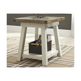 Stownbranner Rectangular End Table Two-tone
