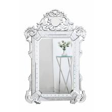 Venetian 39.5 in. Transitional Mirror in Clear