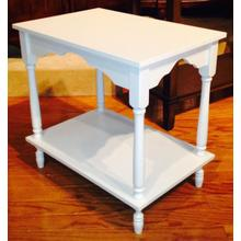 See Details - Cottage White Side Table
