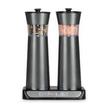 Product Image - Kalorik Rechargeable Gravity Salt and Pepper Grinder Set, Pewter