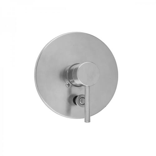 Polished Gold - Round Plate With Round Lever Trim For Pressure Balance Valve With Built-in Diverter (J-DIV-PBV)
