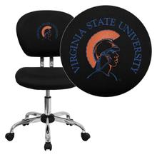 Virginia State University Trojans Embroidered Black Mesh Task Chair with Chrome Base