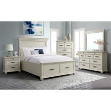 6 Piece Set (Queen Storage Bed, Dresser, Mirror and Nightstand) *Available in White or Black Finish*