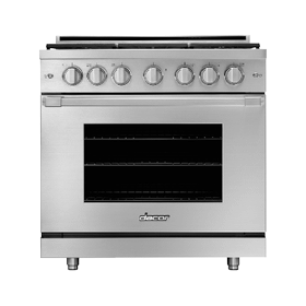 """36"""" Gas Pro Range, Silver Stainless Steel, Natural Gas"""