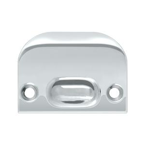 Full Lip Strike Plate For Ball Catch and Roller Catch - Polished Chrome