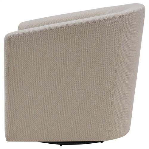 Hayden Fabric Swivel Accent Arm Chair, Cardiff Cream