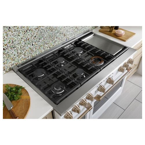 "Café 48"" Smart Dual-Fuel Commercial-Style Range with 6 Burners and Griddle (Natural Gas)"