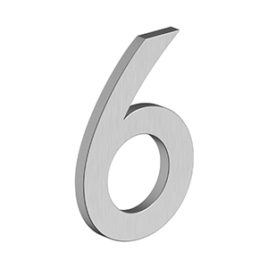 """Deltana - 4"""" NUMBER 6, B SERIES WITH RISERS, STAINLESS STEEL - Brushed Stainless"""