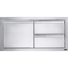 "36"" x 16"" Single Door & Double Drawer Combo , Stainless Steel"
