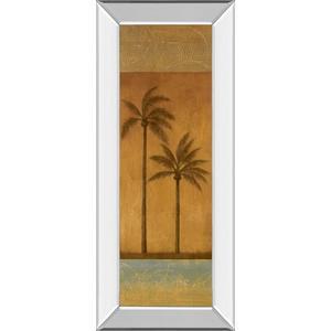 """Golden Palm Il"" By Jordan Grey Mirror Framed Print Wall Art"