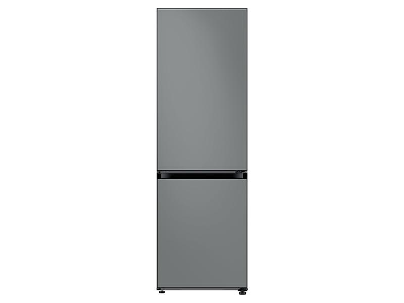 Samsung12.0 Cu. Ft. Bespoke Bottom Freezer Refrigerator With Customizable Colors And Flexible Design In Grey Glass