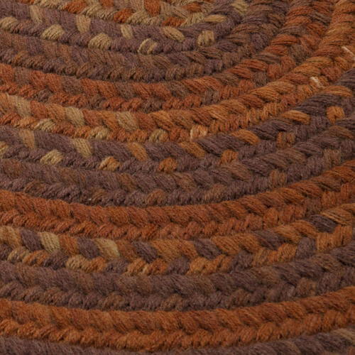 Braided Wool Runners Rug BA70 Rust 2' X 9'