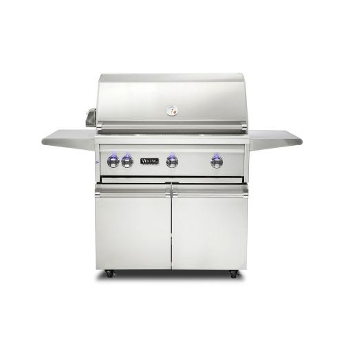 """Viking - 36""""W. Freestanding Grill with ProSear Burner and Rotisserie, Propane Gas"""