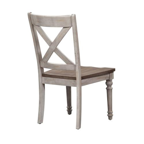 X Back Wood Seat Side Chair (RTA)