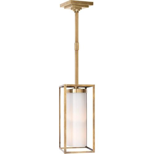 Visual Comfort CHC5058AB-WG E. F. Chapman Easterly 1 Light 8 inch Antique-Burnished Brass Pendant Ceiling Light