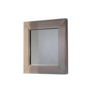 New Generation stainless steel framed square mirror. Product Image
