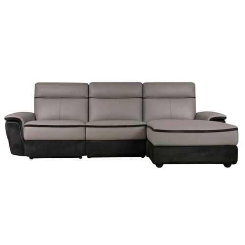 3-Piece Modular Power Reclining Sectional with Right Chaise
