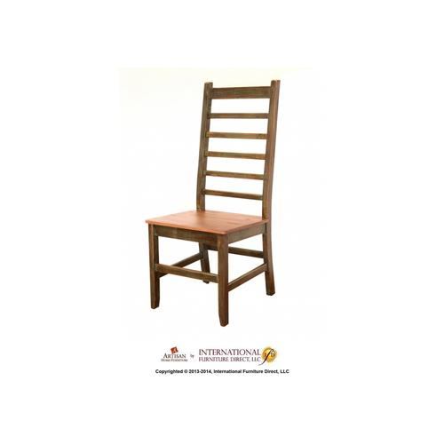 Multicolor Solid Wood Chair**