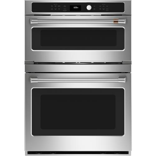 """Café 30"""" Combination Double Wall Oven with Convection and Advantium Technology Stainless Steel"""