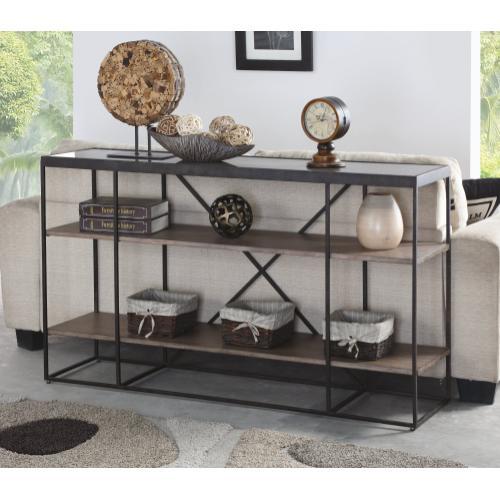 Carmen Sofa Table with Shelving