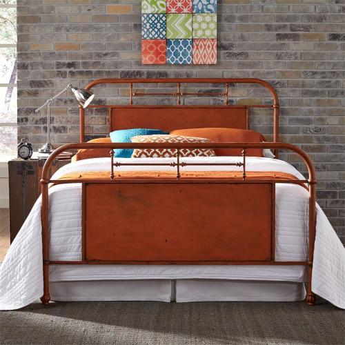King Metal Bed - Orange
