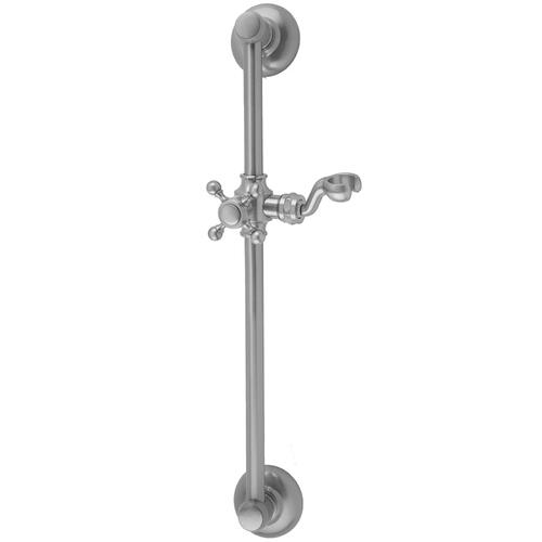 "Black Nickel - 24"" Traditional Wall Bar with Ball Cross Handle"