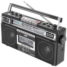 ReRun X Cassette Player Boombox with 4-Band Radio, MP3 Converter, and Bluetooth®