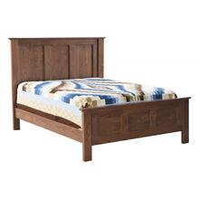Franklin Oak Panel Bed