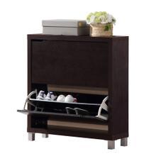View Product - Baxton Studio Simms Dark Brown Modern Shoe Cabinet