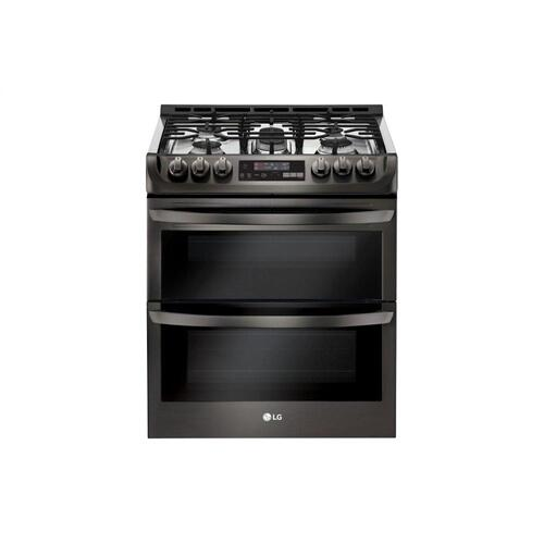 LG - 6.9 cu. ft. Smart wi-fi Enabled Gas Double Oven Slide-In Range with ProBake Convection® and EasyClean®