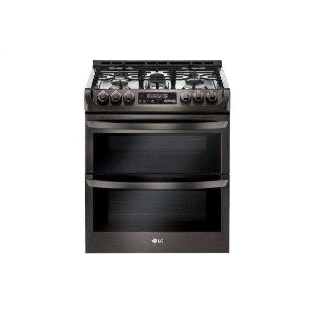 LG Appliances 6.9 cu. ft. Smart wi-fi Enabled Gas Double Oven Slide-In Range with ProBake Convection® and EasyClean®