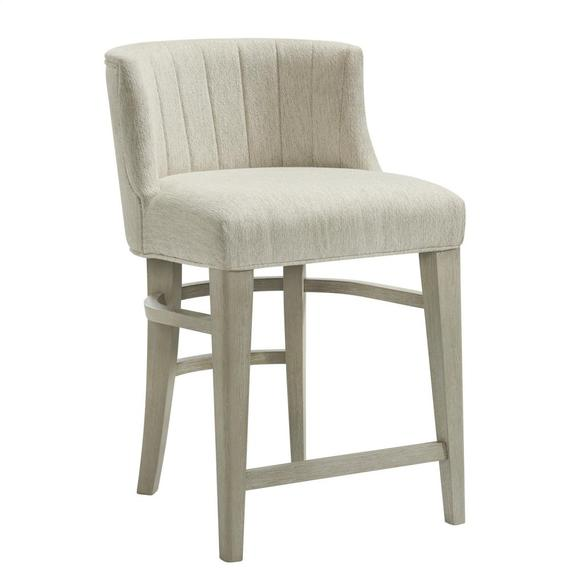 Riverside - Cascade - Upholstered Curved Back Counter Stool - Dovetail Finish