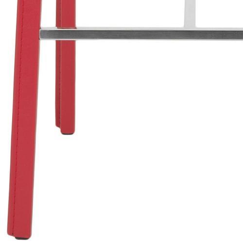 "Jason 30"" Bar Stool ( Set of 2) - Red"