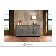 See Details - 4 Drawer, 4 doors console - Blue finish