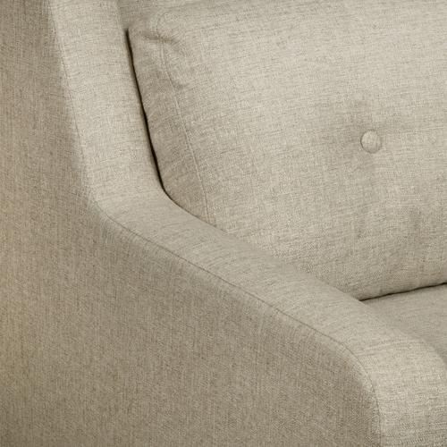 Mid Century Sofa in Lunar Linen Beige