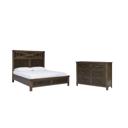 Queen Panel Bed With Storage With Dresser