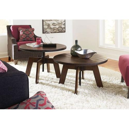 HIGH-LOW ROUND COFFEE TABLE