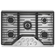 """See Details - GE Profile 30"""" Built-In Deep-Recessed Edge-to-Edge Gas Cooktop Stainless Steel - PGP9030SLSS"""