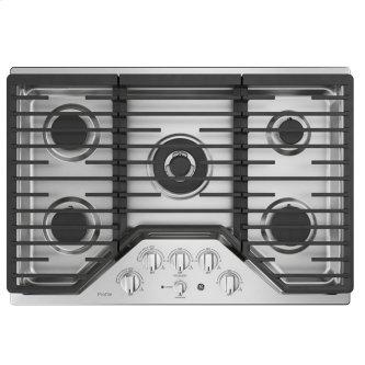 "GE Profile 30"" Built-In Deep-Recessed Edge-to-Edge Gas Cooktop Stainless Steel - PGP9030SLSS"