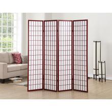 See Details - 4 Panel Cherry Oriental Shoji Screen / Room Divider