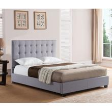 Stratford Platform Bed - King, Grey