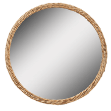 See Details - Twisted Natural Woven Framed Wall Mirror