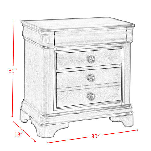 Cameron Cherry Nightstand