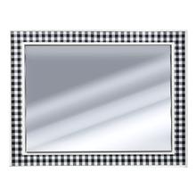 See Details - Framed Black & White Buffalo Plaid Wall Mirror