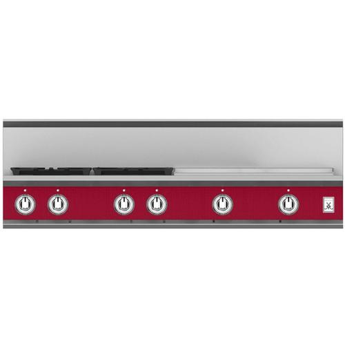"Hestan - 48"" 4-Burner Rangetop with 24"" Griddle - KRT Series - Tin-roof"