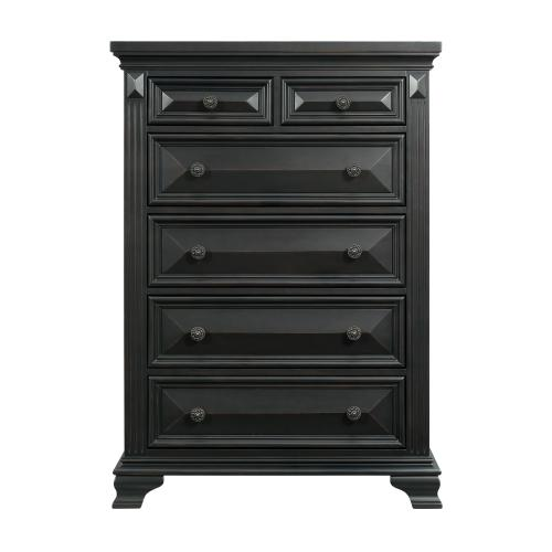 Calloway 6-Drawer Chest in Antique Black