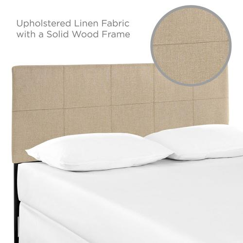 Modway - Oliver Queen Upholstered Fabric Headboard in Beige