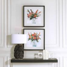 Fresh Flowers Framed Prints, S/2
