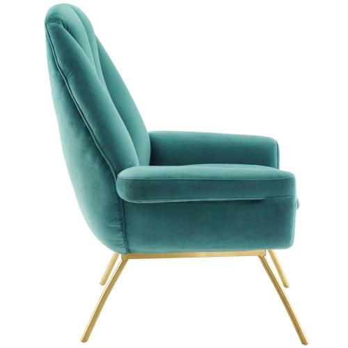 Summit Accent Performance Velvet Armchair in Teal